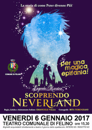 Scoprendo-Neverland peter pan teatro felino
