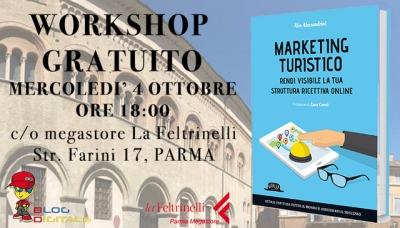 Il Marketing turistico e l'online. Il 4 ottobre da Feltrinelli, workshop con l'autore