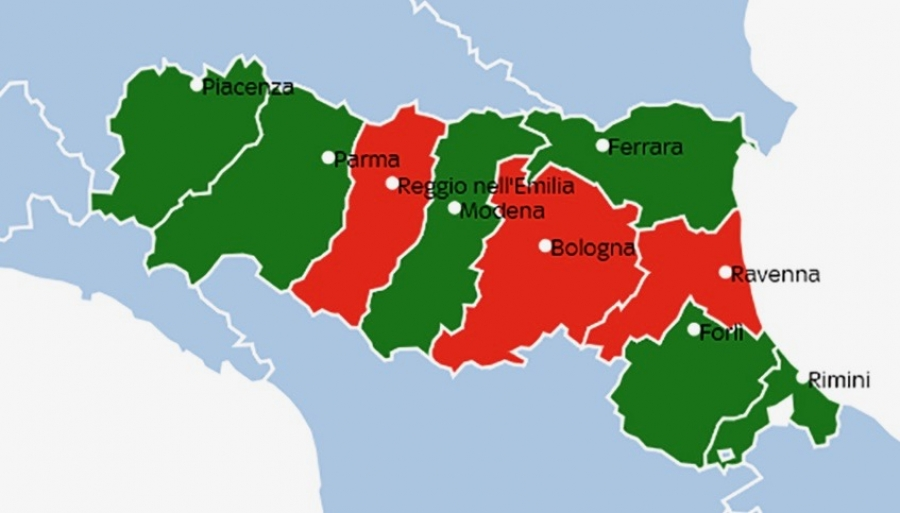 Province Emilia Romagna Cartina Politica.Elezioni Europee I Risultati Per Ogni Provincia Dell Emilia Romagna
