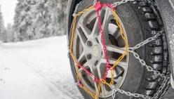 Obbligo di catene o gomme da neve su tutte le strade provinciali