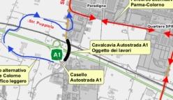 Manutenzione del sovrappasso della SP343 Asolana con l'Autostrada A1
