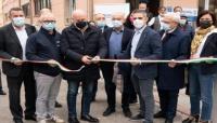 Il Sindaco, Federico Pizzarotti, all'inaugurazione della nuova sede di Intercral Parma
