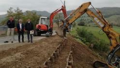 Bonifica Parmense: lavori di sistemazione idrogeologica della strada comunale per Strognano