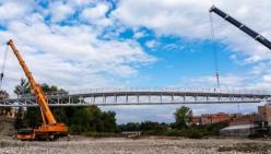 L'impalcato del nuovo Ponte della Navetta