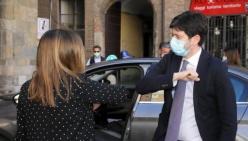 """Piacenza, in Municipio l'incontro con il ministro Speranza e il presidente Bonaccini. I sindaci dei Comuni capo-distretto: """"Incontro proficuo, su temi concreti"""""""