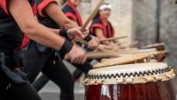 I tamburi giapponesi in Piazzale della Pace (foto)