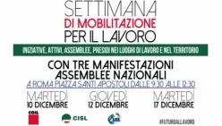 Lavoro, una settimana di mobilitazione proclamata da CGIL, CISL e UIL