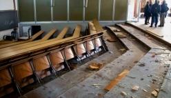 Al via la demolizione delle Aule Rosse di Via Kennedy dell'Università di Parma